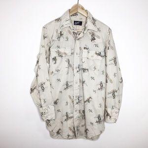Vintage Levi's cowboy pearl-snap shirt size medium